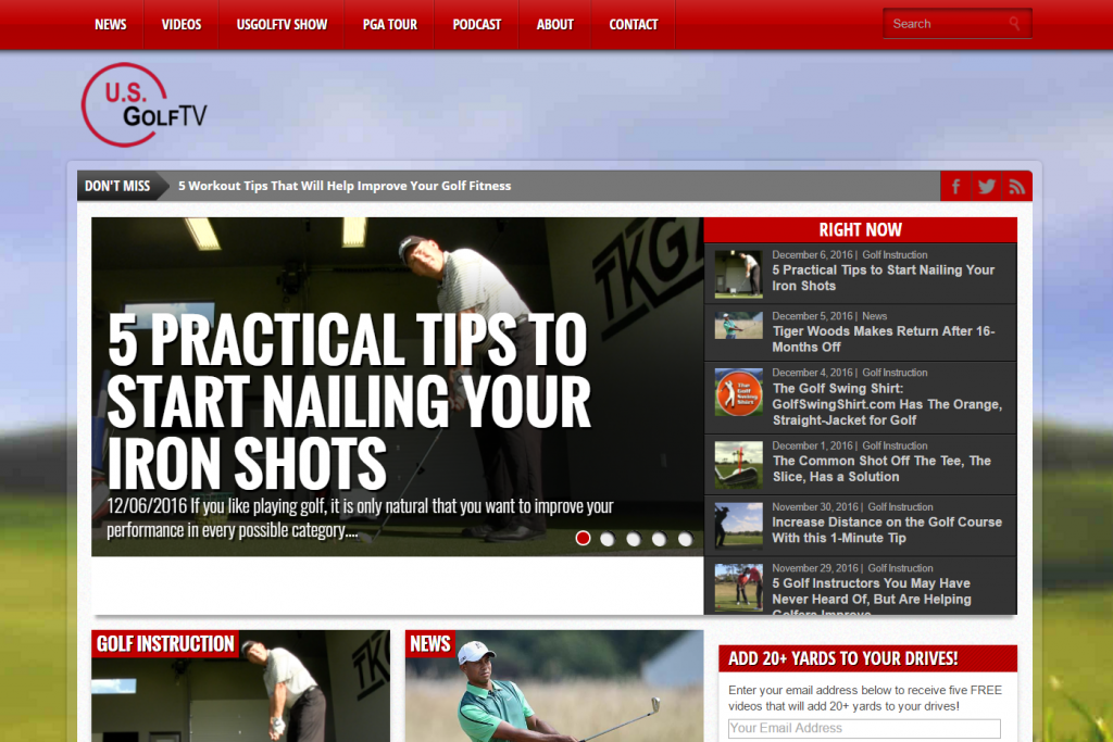 usgolftv screenshot