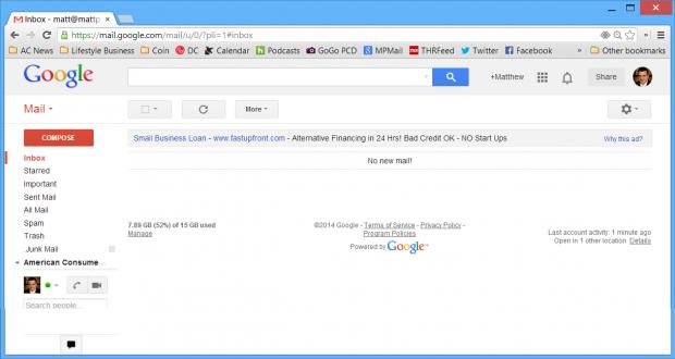 gmail zero