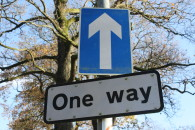 One_Way_sign,_Spa,_County_Down,_November_2010