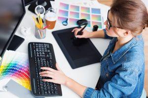 Design, graphic, designer making logo