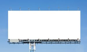 paid advertising image of billboard