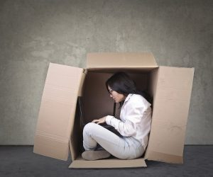 working inside a box to signify working in your business vs working on your business