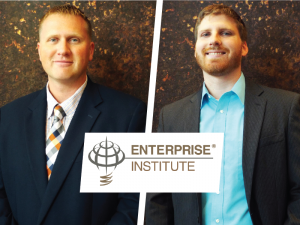 South Dakota Enterprise Institute Staff Tim Weelborg and Tom Eitreim