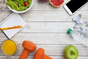 Healthy Diet Fitness Background