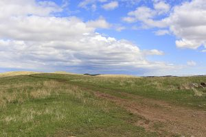 Grassland and sky of the western prairie of South Dakota