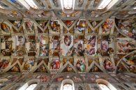 Michelangelo spent four years painting the ceiling of the Sistine Chapel, which many consider his greatest work of art.