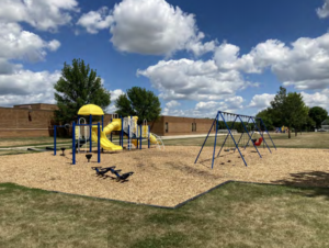 Existing playground equipment at Hayward Park